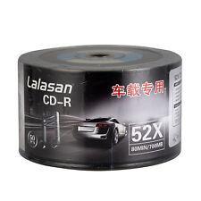 50pcs CD-R 52X 80min 700MB Black Surface Bottom Music Vinyl Blank Disc Records