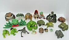 "20 lot frog lovers dream figural figurines toads estate lot 5"" to 1"" vintage"