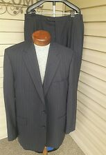 "BROOKS BROTHERS ""346"" Stretch Mens WOOL/LYCRA 2 Button Suit size 44 45 Gray"