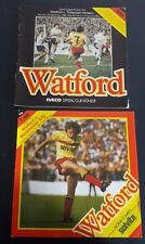 2 x Watford FC Football Programmes 1983/1987