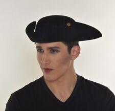 HALLOWEEN COSTUME  FRENCH REVOLUTIONARY WAR HAT BLACK UNISEX PARTY G0978B