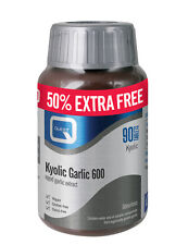 Quest Kyolic Odourless Garlic 600mg 90 Tablets EXTRA VALUE PACK 50% EXTRA FREE