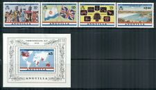 ANGUILLA 521-25 SG544-47,MS548 MNH 1983 Commonwealth set of 4+MS Cat$15