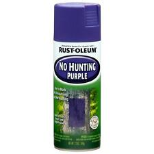 6-Pack Purple Spray-Paint No-Hunting/Trespassing Tree Fence Sign Marker Property
