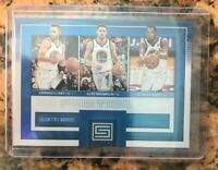 Golden State Warriors Fractions Status Card Curry Tompson Durant Panini 2018 MT