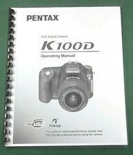 Pentax K100D Operating Manual: 220 Pages & Protective Covers!