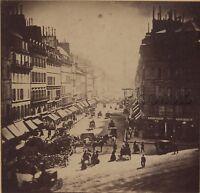 Paris Rue de la Paix France Photo Stéréo Stereoview Vintage albumine ca 1860