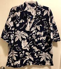 New Hawaii Vintage Collection Floral Wahine Smoogie Sailor Love Aloha Shirt XXL