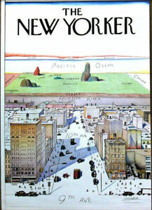 Saul Steinberg View of the World from 9th Ave Original 1976 Poster