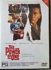 POWER OF ONE PAL R4 DVD RARE OOP DELETED CULT MOVIE MORGAN FREEMAN APARTHEID