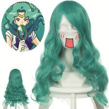 "Sailor Moon Neptune  Curly Wavy Green Cosplay Wig 25.6""  (65cm)"