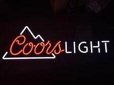 """COORS LIGHT BEER SIGN LED LIGHTED BAR MANCAVE PUB 38"""" X 13"""" NEW IN BOX"""