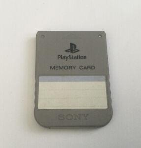 Sony Playstation 1 Original Grey Memory Card