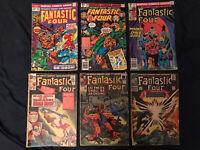 FANTASTIC FOUR Silver/Bronze lot of 6 comics: 31,43,53 (Key),143,209,224 low-mid