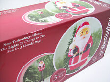 Westinghouse Christmas Solar LED Santa Christmas Lights Set of 3 Brand New