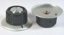 "KNOB 1/4"" LARGER SKIRTED-ALUMINUM+POINTER 1-13/16"" - Rogan? *UNUSED* *NOS* Qty:2"