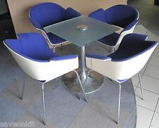 Bene RONDO c4rron4fs BLUE Designer Chair, orangebox tavolo in vetro, sala di riunione