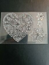 Poinsettia Heart Clear Stamp Set
