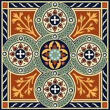 Persian Artistic Tile Kitchen Backsplash Ceramic Border Mediterranean Accent