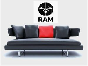 "RAM RECORDS BORDERLESS MOSAIC TILE WALL POSTER 35"" x 33"" DRUM N BASS DNB"