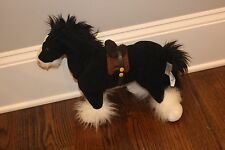 "Disney 18"" Plush Stuffed Brave Angus Horse Merida Pixar Large Black Clydesdale"