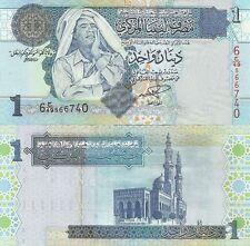 Banknote, Libya, Libyen, 1 Dinar, 2004, Gaddafi, P. 68, unc