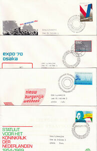 NETHERLANDS Scott 479-482 Four 1969-70 First Day Covers to Netherlands Antilles
