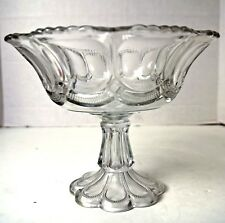 "EAPG CLEAR GALLOWAY VIRGINIA MIRROR 8"" COMPOTE US Glass Jefferson"