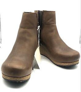 BIRKENSTOCK PAPILLIO EBBA WOMEN'S SHOES ANKLE BOOTS BROWN COGNAC US 7 BRAND NEW