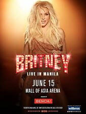 """Britney Spears Manilla 16"""" x 12"""" Photo Repro Concert Poster"""