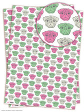 Brainbox Candy Pug wrapping paper 2 sheets gift wrap dog birthday quirky funny