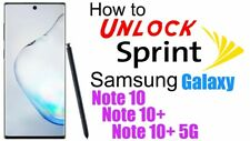 Samsung Galaxy Note 10 N970U N975U All Bit Sprint Boost Unlock Service Remote