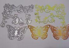 Scorrimento a farfalla in metallo taglio DIE Card Making Scrapbooking Goffratura ARTE Craft