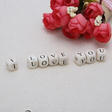 DIY 100pcs Wooden Alphabet Beads Letter Bead For Toy Bracelet Jewelry Accessorie