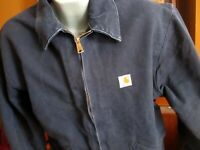 Vintage 90s Carhartt Detroit Blanket Lined Work Jacket 2XL T Union Made in USA