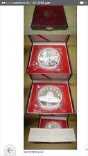 1989 china 12oz panda silver coin box coa