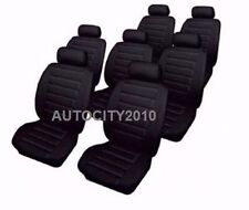 SEAT ALHAMBRA 2000-2010 BLACK LOOK LEATHER SEAT COVER SET X1