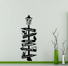 Road Sign Wall Decal Harry Potter Star Wars Geek Vinyl Sticker Decor Poster 56me