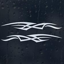 RACING FLAG AUTO Tuning Strisce Viper finestra stile decalcomania in vinile adesivo per paraurti