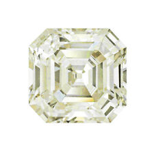 Yellow Asscher Diamond Cut Loose Moissanite 10 X 10 MM 4.70 Carat Use For Ring