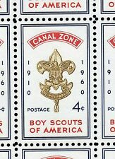 Canal Zone Scott #151 Boy Scouts Badge Issue of 1960-Lot of 100 Mint NH Stamps!!