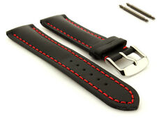 Men's Genuine Leather Watch Strap Band Heavy Padded Canyon Ss Buckle Spring Bars