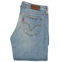 Levi's 570 Dritto Fit Donna Super Basso Rétro Jeans lungo Pantaloni 27x32 Blu