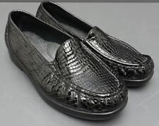 Women SAS Simplify Tripad Comfort Black Croc Loafer Slip on Shoe USA 8WW