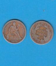 Etats-Unis  Silver Dime 1876 San-Fransisco Silver coin