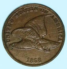 XF/AU Details 1858 Flying Eagle Polished Cent Early US Penny Coin Lot B56