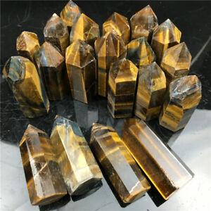 2.2 LB natural Tiger's eye jasper quartz crystal obelisk wand point healing