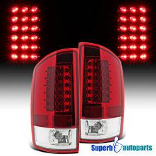 For 2002-2006 Dodge Ram 1500 2500 3500 LED Tail Lights Brake Lamp Red