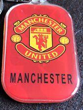 MANCHESTER UNITED English  Football Club Crest Logo Metal Two Sided Key Ring