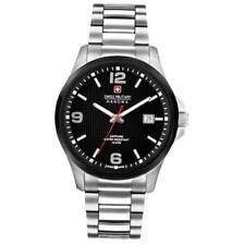 Swiss Military Hanowa Challenge Observer Quartz Watch Black PVD Date